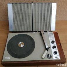 Radios antiguas: MALETA MALETIN TOCADISCOS MARCA ASKAR STEREO FABRICADO EN ESPAÑA FUNCIONA FALTA AGUJA. Lote 143711058