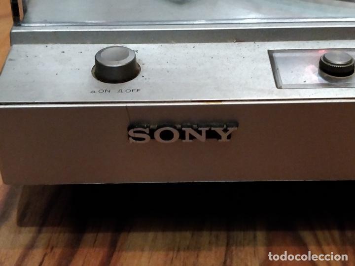 Radios antiguas: Giradiscos SONY PS-T25, 38x44cm, Fabricado en España para 120 o 220V. - Foto 6 - 140861270