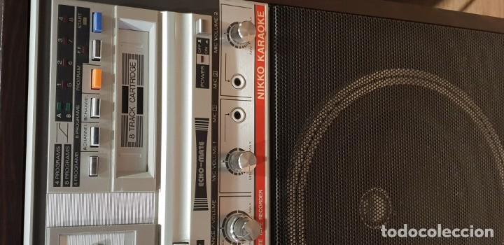 Radios antiguas: Karaoke primitivo de cartuchos años 70 80 funcionando con 2 micros - Foto 2 - 141273110