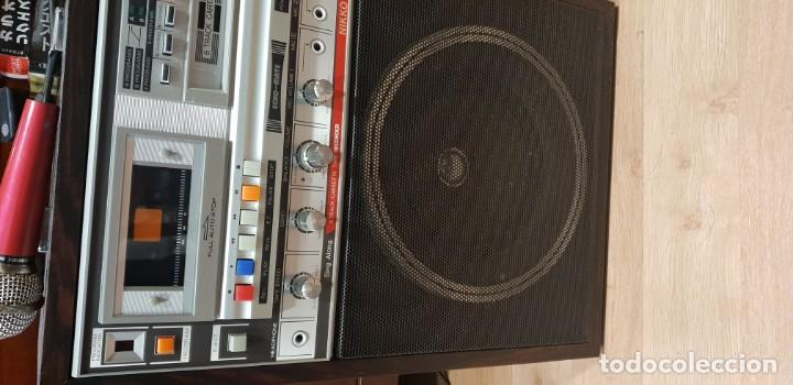 Radios antiguas: Karaoke primitivo de cartuchos años 70 80 funcionando con 2 micros - Foto 3 - 141273110