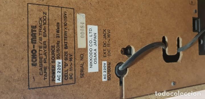 Radios antiguas: Karaoke primitivo de cartuchos años 70 80 funcionando con 2 micros - Foto 4 - 141273110