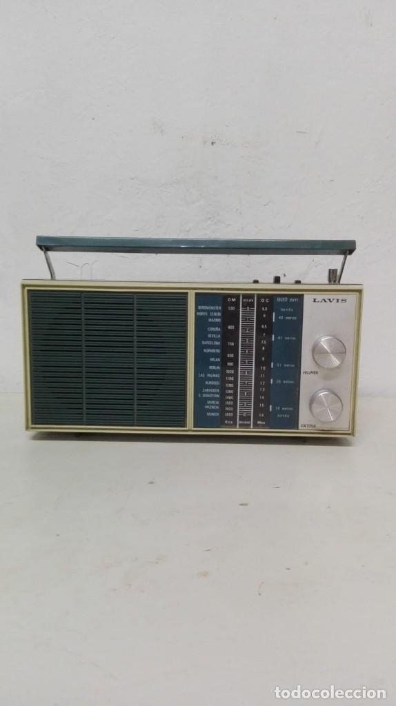 RADIO LAVIS, FUNCIONA CON PILAS. (Radios, Gramófonos, Grabadoras y Otros - Transistores, Pick-ups y Otros)