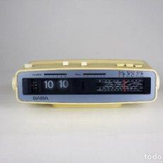 Radios antiguas: RADIO FM DESPERTADOR SABA FLIP CLOCK RETRO SPACE AGE VINTAGE ALEMANIA AÑOS 70. Lote 142710570