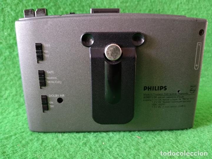 Radios antiguas: WALKMAN PHILIPS AUTO REVERSE AQ6613 FUNCIONANDO - Foto 4 - 142724202
