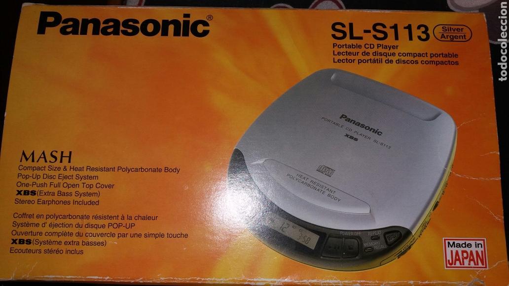 PORTABLE CD PLAYER. REPRODUCTOR DE MÚSICA CD PORTÁTIL MARCA PANASONIC (Radios, Gramófonos, Grabadoras y Otros - Transistores, Pick-ups y Otros)
