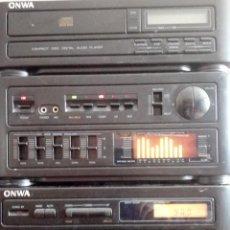 Radios antiguas: EQUIPO DE MUSICA- ONWA-.CD Y RADIO CASSETTE.MODELO:MC740CD.. Lote 147656585