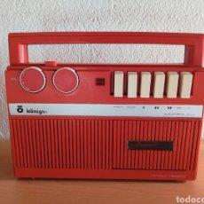 Radios antiguas: RADIO CASSETTE OM KÖNIGER MOD. 3103 NÚM. 14171 MADE IN SPAIN CASETE VINTAGE DECORACIÓN NARANJA RETRO. Lote 143182300
