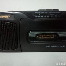 Radios antiguas: RADIO CASSETTE SUNNY 8018. Lote 143845486