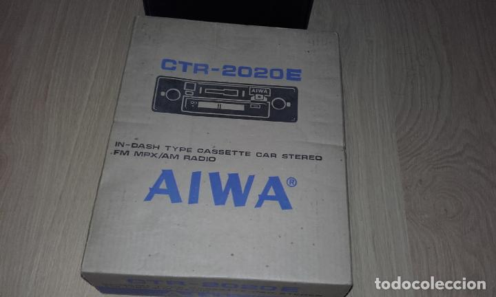 RADIOCASSETTE DE COCHE ESTÉREO AIWA CTR-2020E, AÑOS 70. TOTALMENTE NUEVO, A ESTRENAR, COMPLETO. (Radios, Gramófonos, Grabadoras y Otros - Transistores, Pick-ups y Otros)