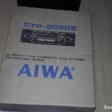 Radios antiguas: RADIOCASSETTE DE COCHE ESTÉREO AIWA CTR-2020E, AÑOS 70. TOTALMENTE NUEVO, A ESTRENAR, COMPLETO.. Lote 144393162