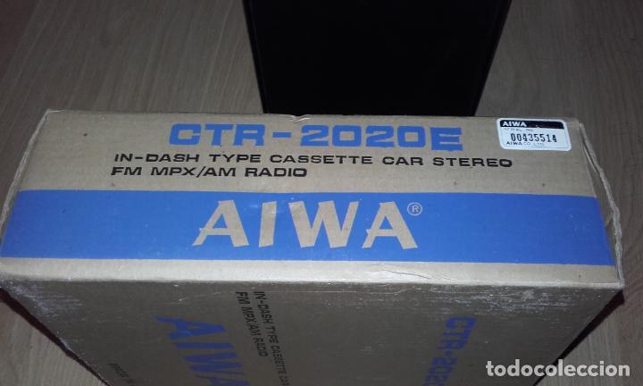 Radios antiguas: Radiocassette de coche estéreo Aiwa CTR-2020E, años 70. Totalmente nuevo, a estrenar, completo. - Foto 3 - 144393162