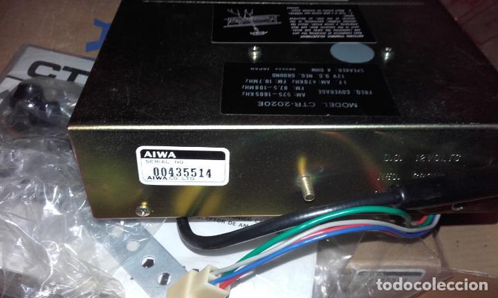 Radios antiguas: Radiocassette de coche estéreo Aiwa CTR-2020E, años 70. Totalmente nuevo, a estrenar, completo. - Foto 12 - 144393162