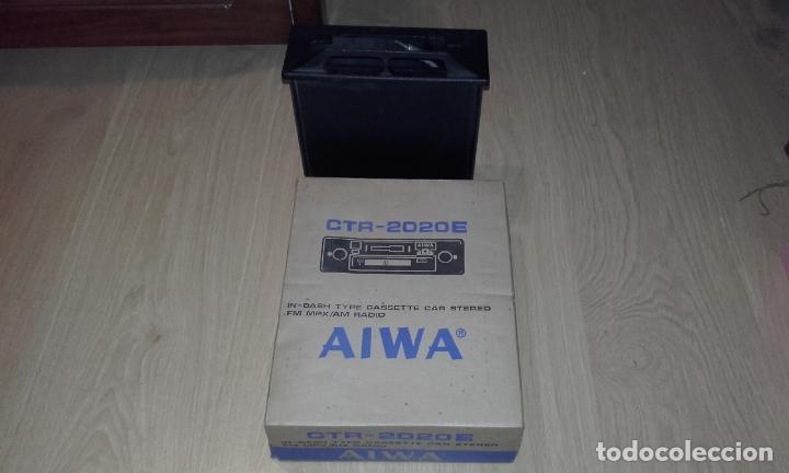 Radios antiguas: Radiocassette de coche estéreo Aiwa CTR-2020E, años 70. Totalmente nuevo, a estrenar, completo. - Foto 15 - 144393162