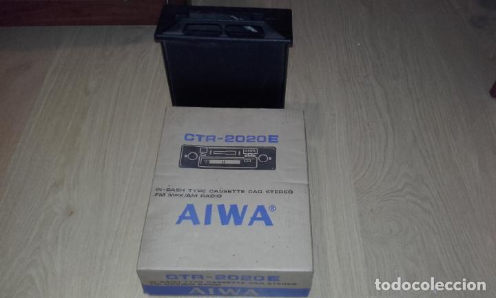 Radios antiguas: Radiocassette de coche estéreo Aiwa CTR-2020E, años 70. Totalmente nuevo, a estrenar, completo. - Foto 16 - 144393162