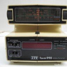 Radios antiguas: RARO RADIO DESPERTADOR ITTFORM 990 ÉLECTRONIC. Lote 144491066