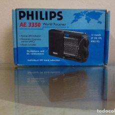 Radios antiguas: PHILIPS AE 3350 RADIO INTERNACIONAL RECEPTOR MUNDO MUNDIAL SW, FM, MW, LW CAJA ORINGINAL. Lote 144550222
