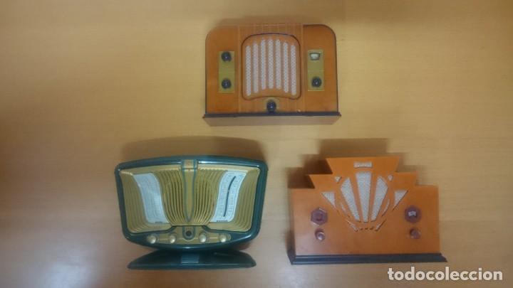 Radios antiguas: ESPECTACULAR LOTE DE 37 RADIOS EN MINIATURA. RADIOS DE ANTAÑO. TODOS LOS FASCÍCULOS. - Foto 8 - 145261782
