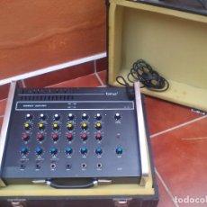 Radios antiguas: TALMUS COMPACT AMPLIFIER, AMPLIFICADOR O MESA DE MEZCLAS CON 6 CANALES DE ENTRADA CON MALETA Y CABLE. Lote 145755606
