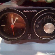 Radios antiguas: RADIO RELOJ HANIMEX. Lote 146120890