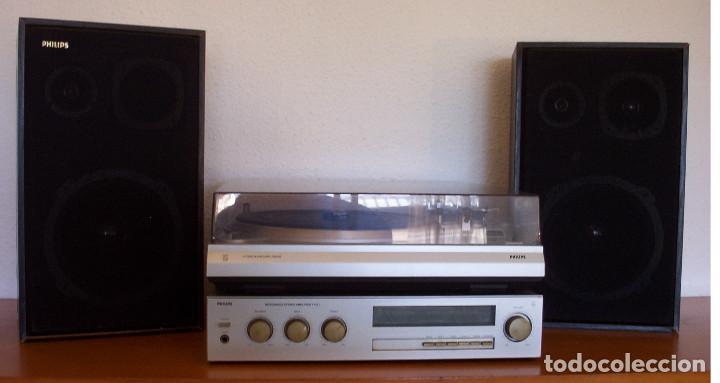 AMPLIFICADOR - PLATO DE DISCOS - ALTAVOCES - MARCA PHILIPS - AÑOS 80 - PROSPECTOS ORIGINALES (Radios, Gramófonos, Grabadoras y Otros - Transistores, Pick-ups y Otros)