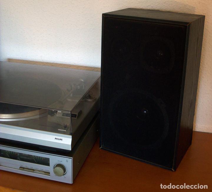 Radios antiguas: AMPLIFICADOR - PLATO DE DISCOS - ALTAVOCES - MARCA PHILIPS - AÑOS 80 - PROSPECTOS ORIGINALES - Foto 2 - 146151898