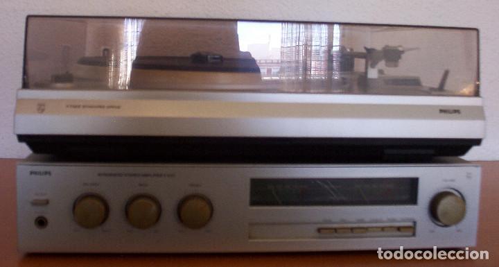 Radios antiguas: AMPLIFICADOR - PLATO DE DISCOS - ALTAVOCES - MARCA PHILIPS - AÑOS 80 - PROSPECTOS ORIGINALES - Foto 12 - 146151898