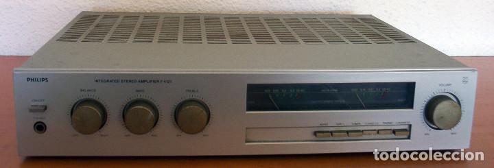 Radios antiguas: AMPLIFICADOR - PLATO DE DISCOS - ALTAVOCES - MARCA PHILIPS - AÑOS 80 - PROSPECTOS ORIGINALES - Foto 15 - 146151898