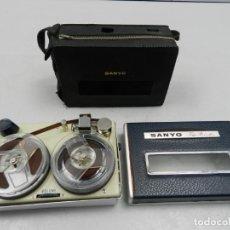 Radios antiguas: SANYO TAPE RECORDER, MAGNETOFONO DE CINTA - PORTATIL DE PILAS. Lote 146179690