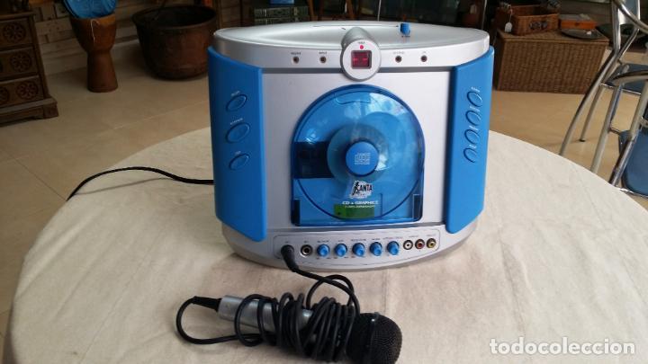 Radios antiguas: REPRODUCTOR DE CD - KARAOKE CON MICRÓFONO - Foto 3 - 146656866