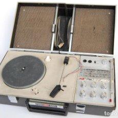 Radios antiguas: TOCADISCOS AIWA MALETA COLOR NEGRO P-184 STEREO. Lote 147892486