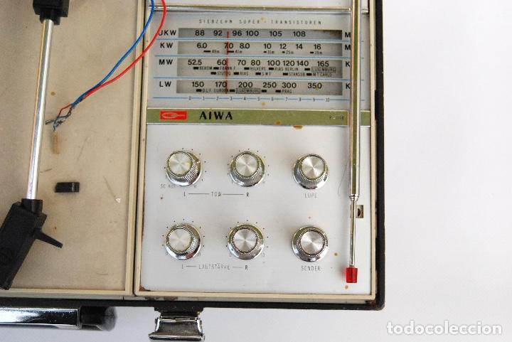 Radios antiguas: TOCADISCOS AIWA MALETA COLOR NEGRO P-184 STEREO - Foto 5 - 147892486