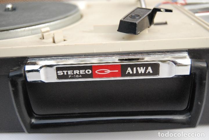 Radios antiguas: TOCADISCOS AIWA MALETA COLOR NEGRO P-184 STEREO - Foto 6 - 147892486
