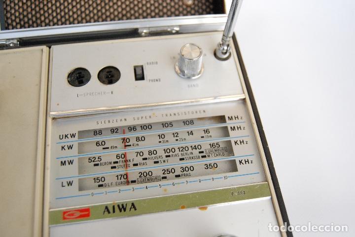 Radios antiguas: TOCADISCOS AIWA MALETA COLOR NEGRO P-184 STEREO - Foto 7 - 147892486