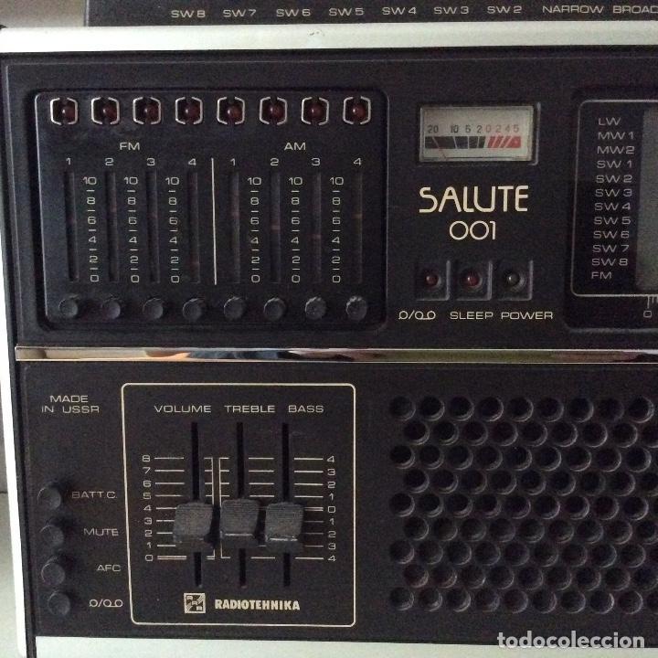 Radios antiguas: Radio Salute 001 Radioteknika Made in URSS USSR - Foto 5 - 148549822