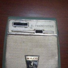 Radios antiguas: 1963 RADIO TRANSISTOR MARCA WILCO 6 MODELO 360. JAPON. Lote 149297354