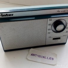 Radios antiguas: RADIO ANTIGUA INTER SLIM 130.OC.RADIO TRANSISTORES.. Lote 149355018