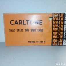 Radios antiguas: 341-RADIO TRANSISTOR CARLTONE TR 2000. Lote 149626342
