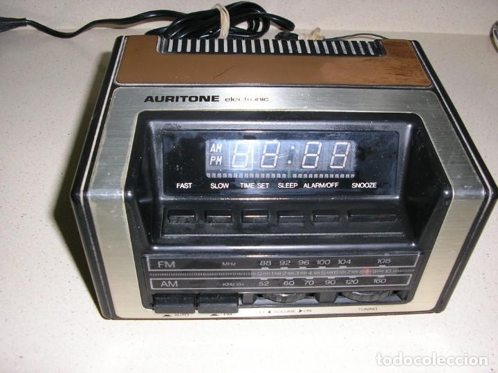 RADIO DESPERTADOR AURITONE ELECTRONIC (Radios, Gramófonos, Grabadoras y Otros - Transistores, Pick-ups y Otros)