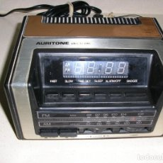 Radios antiguas: RADIO DESPERTADOR AURITONE ELECTRONIC. Lote 218005656