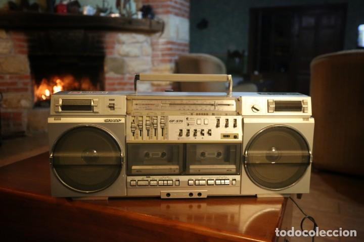 SHARP GF-575 ESTÉREO RADIO CASSETTE (Radios, Gramófonos, Grabadoras y Otros - Transistores, Pick-ups y Otros)