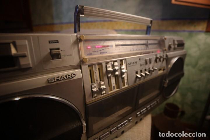 Radios antiguas: Sharp gf-575 estéreo radio cassette - Foto 2 - 150838110