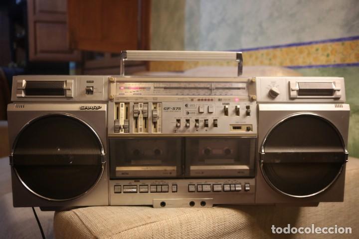 Radios antiguas: Sharp gf-575 estéreo radio cassette - Foto 3 - 150838110