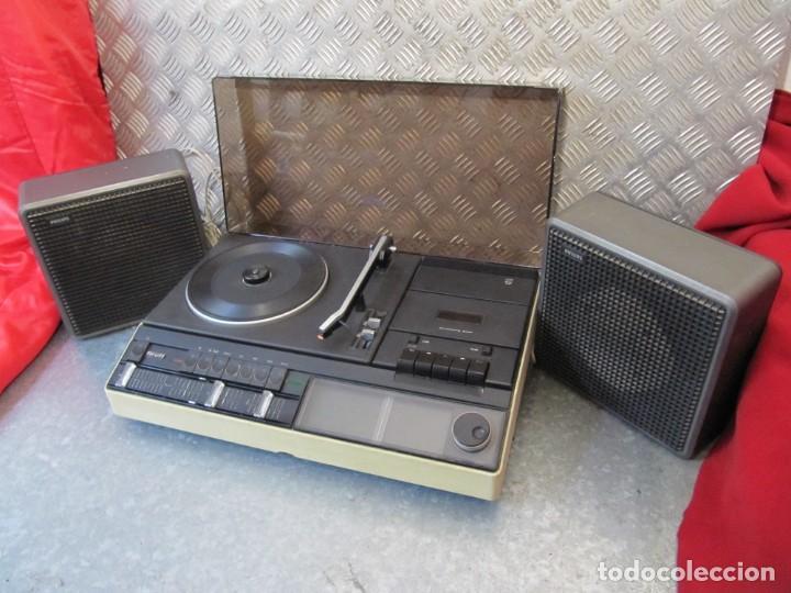 LOTE TOCADISCOS RADIOCASSETTE. 940 PHILIPS FUNCIONANDO (Radios, Gramófonos, Grabadoras y Otros - Transistores, Pick-ups y Otros)