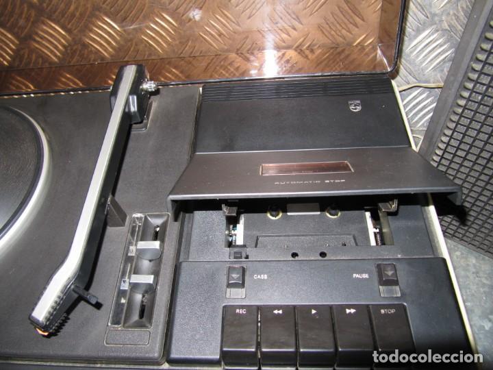Radios antiguas: Lote Tocadiscos Radiocassette. 940 PHILIPS funcionando - Foto 5 - 151428858