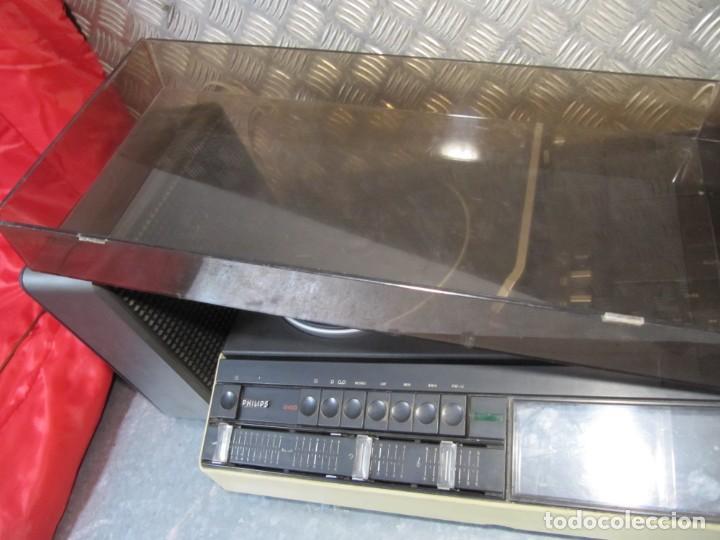 Radios antiguas: Lote Tocadiscos Radiocassette. 940 PHILIPS funcionando - Foto 9 - 151428858