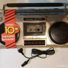 Radios antiguas: RADIO CASSETTE BOOMBOX STEREO TAPE RECORDER SHARP GF-4747Z. 1980S. NUEVO EN CAJA. Lote 151642710