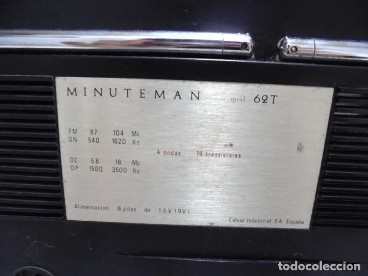 Radios antiguas: ANTIGUA RADIO. MINUTEMAN 62T. VANGUARD. SOLID STATE. FUNCIONA. VER - Foto 11 - 151701866