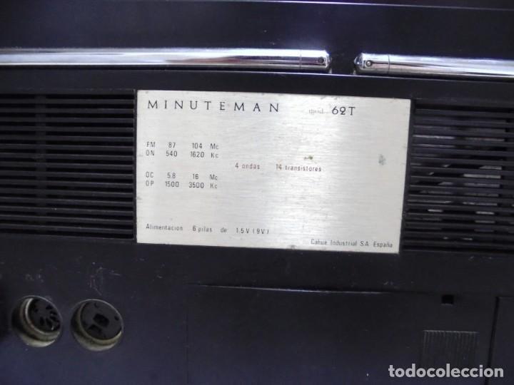Radios antiguas: ANTIGUA RADIO. MINUTEMAN 62T. VANGUARD. SOLID STATE. FUNCIONA. VER - Foto 12 - 151701866
