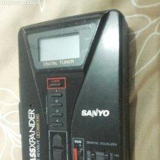 Radios antiguas: WALKMAN RADIO CASSETTE SANYO AÑOS 80 (FUNCIONA-COMPLETO). Lote 152213724