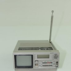 Radios antiguas: VINTAGE RADIO TRANSISTOR AM/FM QUARTZ RELOJ Y TELEVISOR MARCA SANYO . Lote 153779378